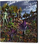 An Alien Being Surveys The Colorful Canvas Print by Mark Stevenson