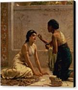 An Ancient Custom Canvas Print by Edwin Longsden Long