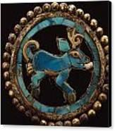 An Ancient Moche Indian Ear Ornament Canvas Print by Bill Ballenberg