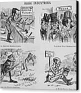 An Anti-irish Cartoon Entitled Irish Canvas Print by Everett