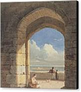 An Arch At Holy Island - Northumberland Canvas Print by John Varley