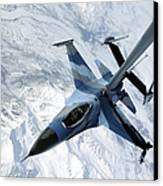 An F-16 Aggressor Sits In Contact Canvas Print