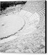 Ancient Site Of Roman Theatre At Salamis Famagusta Turkish Republic Of Northern Cyprus Trnc Canvas Print by Joe Fox