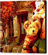 Angel Bear Canvas Print by David Alvarez