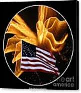 Angel Fireworks And American Flag Canvas Print by Rose Santuci-Sofranko