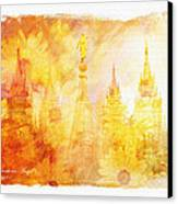 Angel Golden Canvas Print by La Rae  Roberts