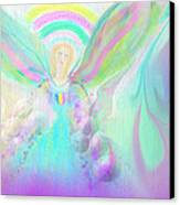 Angel Working Canvas Print by Rosana Ortiz