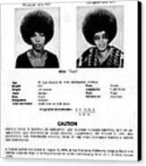 Angela Davis Fbi Wanted Ad, August 8th Canvas Print by Everett