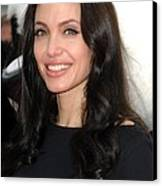Angelina Jolie At Arrivals For Dvd Canvas Print
