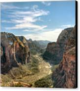 Angels Landing - Zion National Park Canvas Print by Bryant Scannell