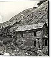 Animas Forks Ink Outline Canvas Print by Melany Sarafis