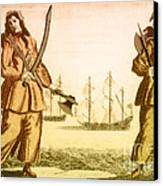 Anne Bonny And Mary Read, 18th Century Canvas Print by Photo Researchers