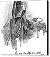 Anne Bront� (1820-1849) Canvas Print by Granger