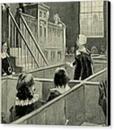 Anne Hutchinson, Charged With Heresy Canvas Print by Everett