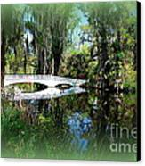 Another White Bridge In Magnolia Gardens Charleston Sc II Canvas Print