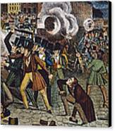 Anti-catholic Mob, 1844 Canvas Print