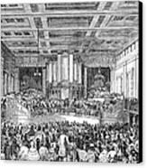 Anti-slavery Meeting, 1842 Canvas Print