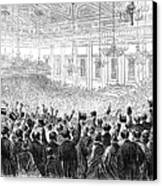 Anti-slavery Meeting, 1863 Canvas Print