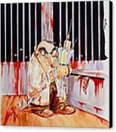 Anti-vivisectionist Caricature Of A Scientist Canvas Print by David Gifford