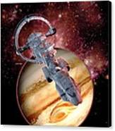 Antimatter Drive Spaceship Canvas Print by Victor Habbick Visions