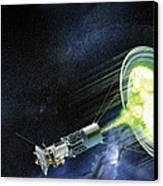Antimatter Spaceship Canvas Print by Henning Dalhoff