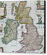 Antique Map Of Britain Canvas Print by English School