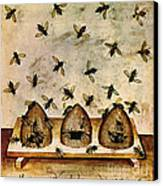 Apiculture-beekeeping-14th Century Canvas Print by Science Source