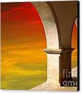 Arches At Sunset Canvas Print by Carlos Caetano