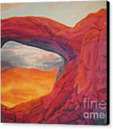 Arches Sunfire Canvas Print by Vikki Wicks
