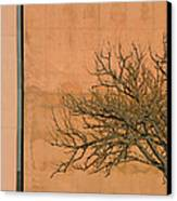 Architecture With Winter Tree Canvas Print by Lenore Senior