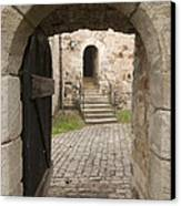 Archway - Entrance To Historic Town Canvas Print