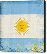 Argentina Flag Canvas Print by Setsiri Silapasuwanchai