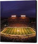 Arizona Arizona Stadium Under The Lights Canvas Print by J and L Photography