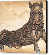 Arkansas Razorback Mascot Canvas Print by Annie Laurie