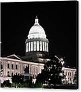 Arkansas State Capital Canvas Print by Joe Finney
