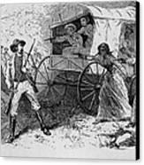 Armed Fugitive Slave Family Defending Canvas Print