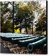 Army Cannons In A Row Canvas Print by Army Athletics