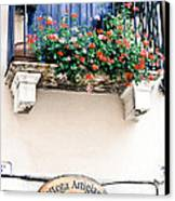 Artisan's Balcony Canvas Print by Gordon Wood