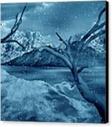 Artists Concept Of A Dangerous Snow Canvas Print by Mark Stevenson