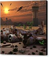 Artists Concept Of A Science Fiction Canvas Print