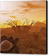 Artists Concept Of Animal And Plant Canvas Print by Walter Myers
