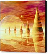 Artwork Of An Alien Landscape Canvas Print by Mehau Kulyk