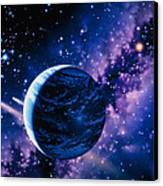 Artwork Of Comets Passing The Earth Canvas Print by Joe Tucciarone