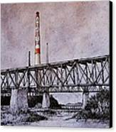 Asarco In Pen And Ink Canvas Print by Candy Mayer