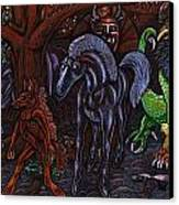 Asil At The Forest Lord's Midnight Gathering In Shitaki Canvas Print by Al Goldfarb