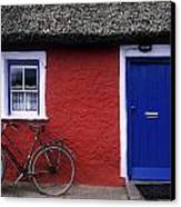 Askeaton, Co Limerick, Ireland, Bicycle Canvas Print by The Irish Image Collection