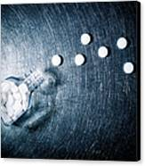 Aspirin Spilled From Bottle On Stainless Steel. Canvas Print by Ballyscanlon