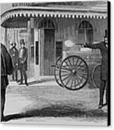 Assassination Of James King, Newspaper Canvas Print