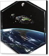 Asteroid Golf Canvas Print