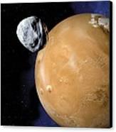Asteroid Near Mars, Artwork Canvas Print by Detlev Van Ravenswaay